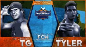 Nella foto, in alto: TG vs Chris Tyler