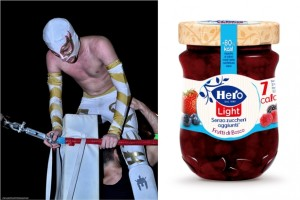 Nella foto, in alto: Hero, marmellata di wrestler