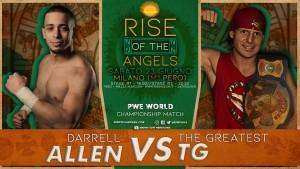 Nella foto, in alto: TG vs Darren Allen