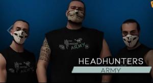 Nella foto, in alto: gli Headhunters
