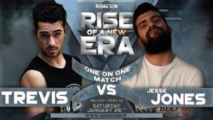 Nella foto, in alto: Trevis vs Jesse Jones