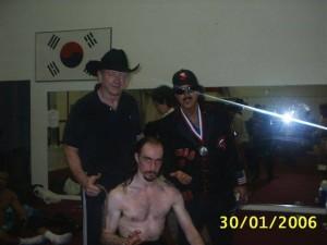 con Dory Funk jr e Jimmy Hart