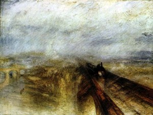 "William Turner, ""Pioggia vapore e velocità"", olio su tela,1844"