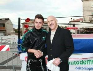 Nella foto, in alto: un incontro d'eccezione: con Bruno Sammartinodurante uno show in suo onore a Pizzoferrato, 2012