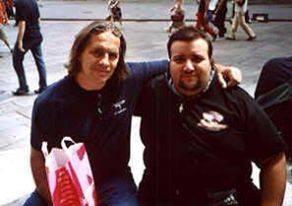 Con Bret Hart in piazza Duomo, Milano 2003