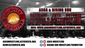 Nella foto, in alto: la locandina dell'evento dell'Asca, organizzaro dalla Rising Sun