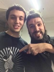 Nella foto, in alto: Il bravissimo Fabio Tornaghi col giovane arbitro Andrea Malalana