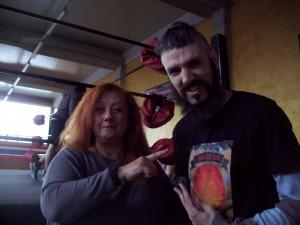 Nella foto, in alto: Fabio Tornaghi con la nostra Erika Corvo