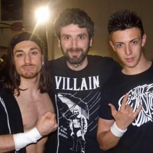 Nella foto, in alto: Fabio Tornaghi con Steve McKee e Matt Disaster