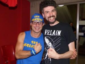 nella foto, in alto: Fabio e The Greatest, un'amicizia oltremodo fruttuosa
