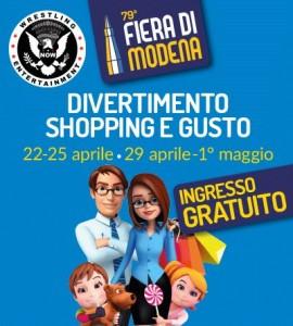 Nella foto, in alto: la locandin a dell'evento alla fFera di Modena