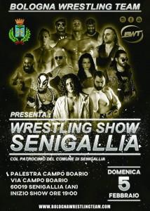 Nella foto, in alto, la locandina dello show BWT a Senigallia