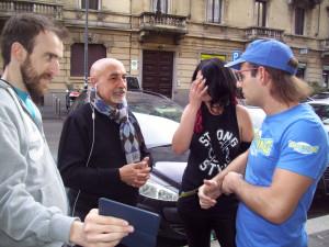 Nella foto, in alto: da sinistra a destra Michael Colombo di Abusivegames, Tony Fusaro. Insanity e Giacomo Giglio