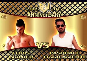 Nella foto, in alto: Chris Walker contro Pasquale O'Malamente