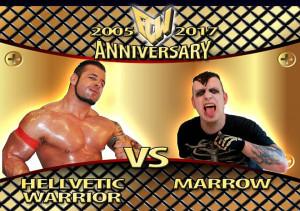 Nella foto, in alto: Marrow contro Hellvetic Warrior