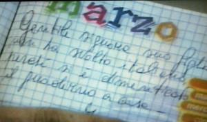 Nella foto, in alto: 105 note sul diario collezionate in un solo anno scolastico!