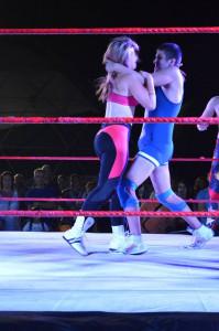 Mary sul ring con Coach Lillo