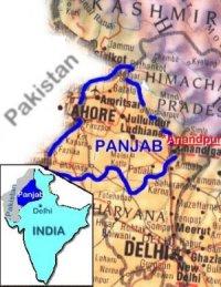 cartina geografica regione Panjab