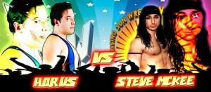 Nella foto, in alto: Horus vs Steve McKee
