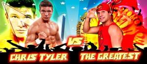 Nella foto, in alto: i due mostri della serata, TG e Chris Tyler
