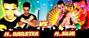 Nella foto, in alto: Marcio silva vs Matt Disaster