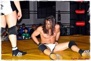 Nella foto, in alto: Steve McKee sul ring, bravissimo wrestler