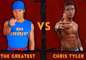 Nella foto, in alto: Gli avversari del main event, The Italian Immortal TG e Chris Tyler