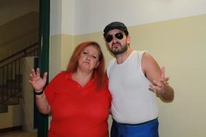 Nella foto, in alto: la nostra Erika Corvo con il beniamino della FCW: Pasquale 'O Malamente