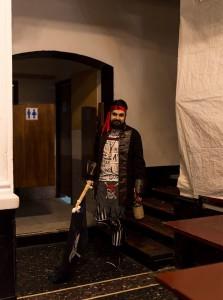 Nella fot, in alto: il pirata Barba di Sale