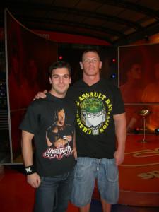 Nella foto, in alto: Alessandro e John Cena