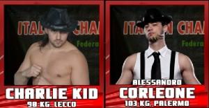 Nella foto, in alto: Charlie Kid contro Alessandro Corleone