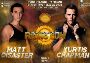 Nella foto, in alto: Matt Disaster vs Kurtis Chapman