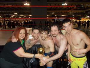 Nnella foto, in alto, da sinistra a destra: Erika, Hardcore Cassi, Gabriel Bach, Manuel Majoli e Trevis