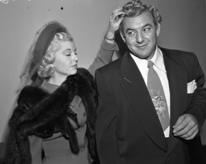 Gorgeous George con la moglie