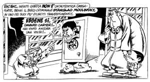 Nella foto, in alto: il cartone animato con Nick Carter e Stanislao Moulinsky