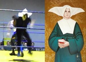 """Nella foto, in alto: della serie """"trova le differenze"""", sorella Phantom da Pero"""