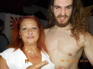 Nella foto, in alto: Rick Barbabionda con la nostra Erika Corvo