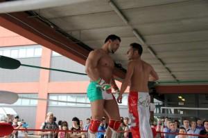 Nella foto, in alto: Sul ring sono stati spesso avversari