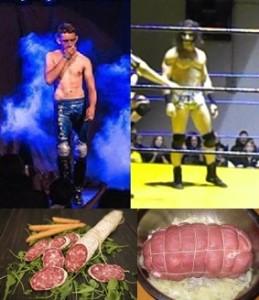 Nella foto, in alto: ...la stessa differenza che passa tra un salame a stringa e un abbondante arrosto con lo spago