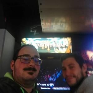 Nella foto, in alto: Emiliano e la sua passione, i videogames cabinati