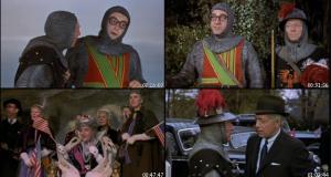 """Nella foto, in alto: Scene dal film """"Il Ruggito del Topo"""""""