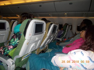 Nella foto, in alto: i passeggeri appisolati sembrano malati terminali attaccati alle macchine