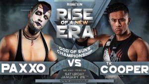 Nella foto, in alto: Paxxo vs TK Cooper