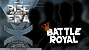 Nella foto, in alto: la battle royal
