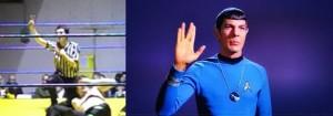 Nella foto, in alto: arbitra il dott. Spock