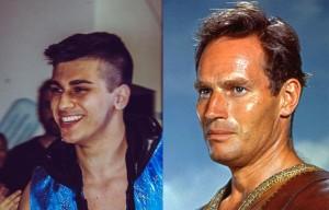 Nella foto, in alto: Eron Sky assomiglia sempre di più a Charlton Heston
