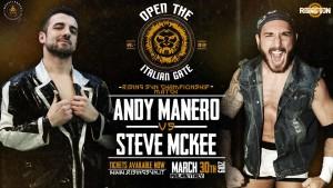 Nella foto, in alto: Andy Manero contro Steve McKee