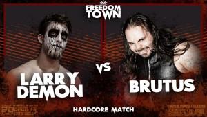 Nella foto, in alto: Larry Demon vs Brutus