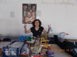 Nella foto, in alto: la preziosissima Mamma Tornaghi al catering