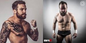 Nella foto, in alto: Chris Ridgeway contro Robbie X